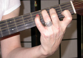 correct hand position for c chord on guitar