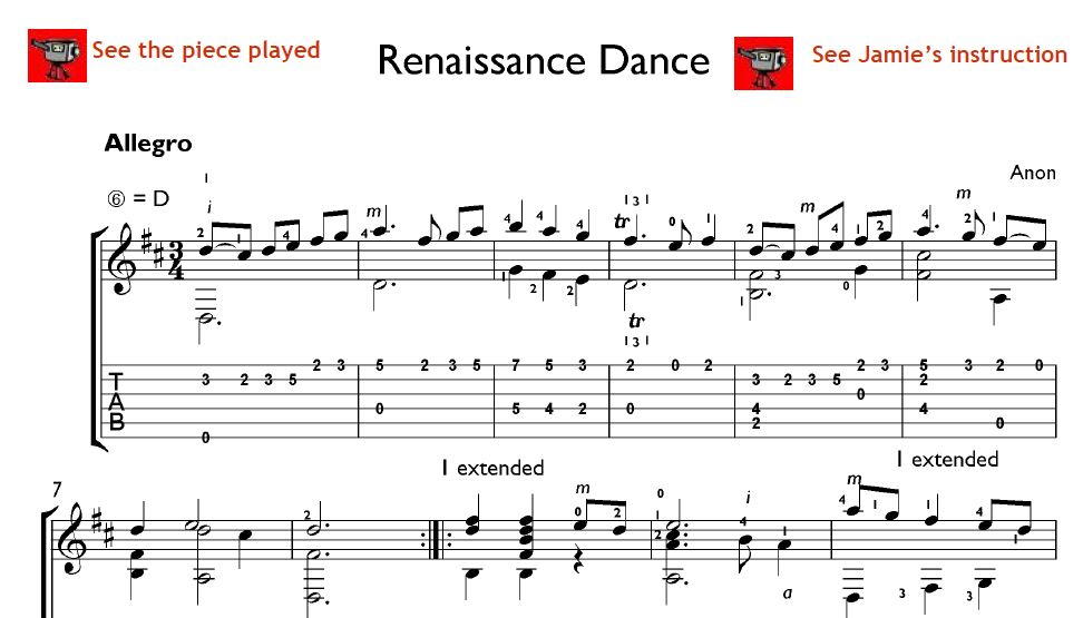 renaissance music for guitar