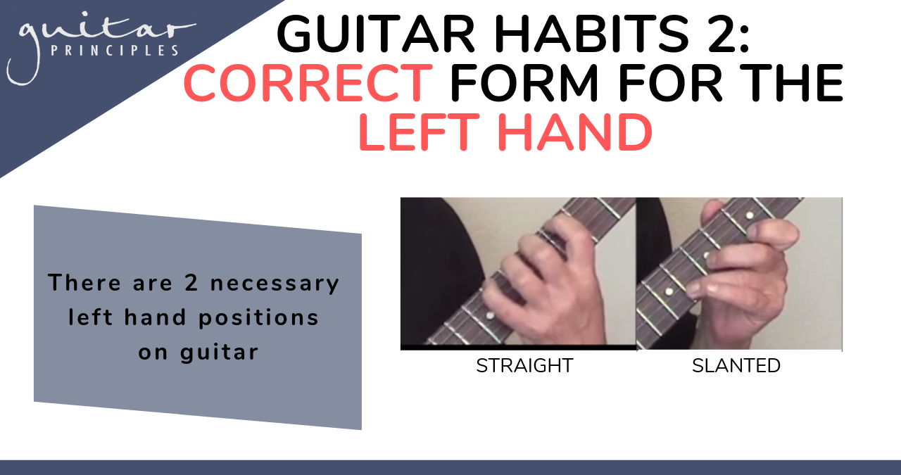 guitar left hand correct form