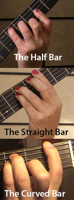 Bar Chord types on guitar