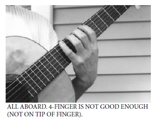 guitar finger placement not good